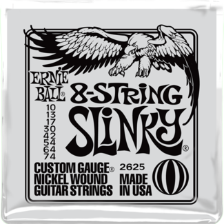 electric guitar strings ernie ball 2625 8 string slinky nickel wound set 10 74. Black Bedroom Furniture Sets. Home Design Ideas