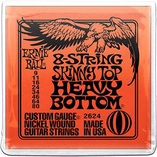 9 gauge ernie ball 2624 8 string skinny top heavy bottom nickel wound 9 80. Black Bedroom Furniture Sets. Home Design Ideas