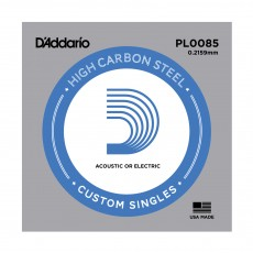 D'Addario Single Plain Steel 0085