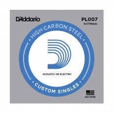 D'Addario Single Plain Steel 007