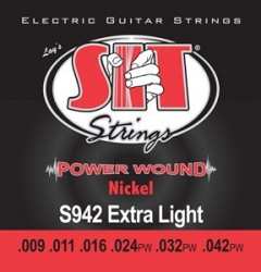 SIT Strings S942 Power Wound Electric Extra Light, 9-42