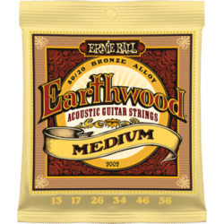 Ernie Ball 2002 Earthwood Medium 80/20 Bronze Acoustic Set, 13-56