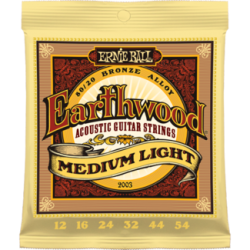 Ernie Ball 2003 Earthwood Med-Light 80/20 Bronze Acoustic Set, 12-54