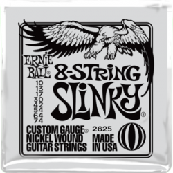 Ernie Ball 2625 8-String Slinky Nickel Wound Set, 10-74