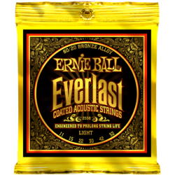 Ernie Ball 2558 Everlast Coated 80/20 Bronze Light, 11-52