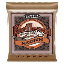 Ernie Ball 2144 Earthwood Medium Phosphor Bronze, 13-56