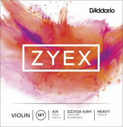 D'Addario Zyex Violin String Set, 4/4 Scale, Heavy