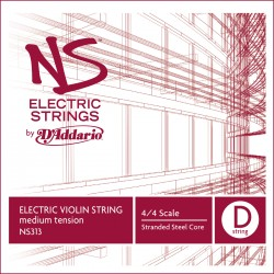 D'Addario NS Electric Violin Single D String, 4/4 Scale, Med Tension
