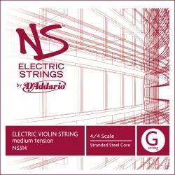 D'Addario NS Electric Violin Single G String, 4/4 Scale, Med Tension