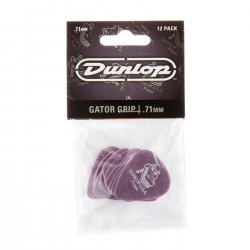 Dunlop 417P.71 Gator Grip Guitar Picks, .71mm, 12 pack
