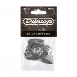 Dunlop 417P2.0 Gator Grip Guitar Picks, 2.0mm, 12 pack