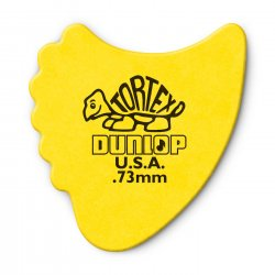 Dunlop 414R.73 Tortex Fin Picks, .73mm, 72 pack