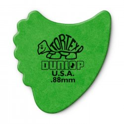 Dunlop 414R.88 Tortex Fin Picks, .88mm, 72 Pack