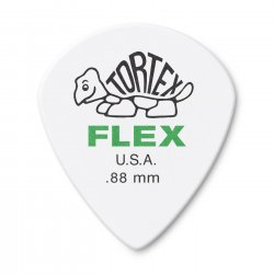 Dunlop 468R.88 Tortex Flex Jazz III Guitar Picks, .88mm, 72 pack