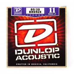 Dunlop DAB1152 Medium Light 80/20 Bronze Acoustic, 11-52