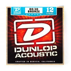 Dunlop DAB1254 Light 80/20 Bronze Acoustic, 12-54