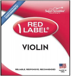 Super Sensitive Red Label 2102 Violin String Set, 1/8