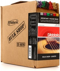 D'Addario EJ17-B25 Phosphor Bronze, Medium, 13-56, 25 Sets