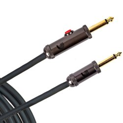 D'Addario Circuit Breaker Instrument Cable w/ Latching Cut-Off Switch, Straight, 10 feet