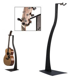 String Swing Acoustic or Electric Guitar Stand, Black Metal, BZ-STAND
