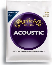 Martin M240 Traditional 80/20 Bronze Bluegrass Acoustic, 12-56