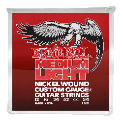 Ernie Ball 2206 Nickel Wound Medium-Light Slinky w/ Wound G, 12-54