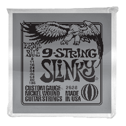 Ernie Ball 2628 9-String Slinky Electric Strings, 9-105