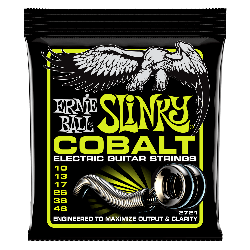 Ernie Ball 2721 Cobalt Regular Slinky Electric Strings, 10-46
