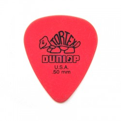 Dunlop 418P.50 Tortex Standard .50mm Red Guitar Picks 12-Pack