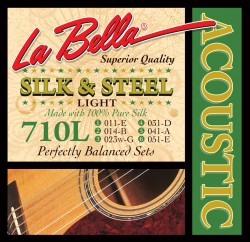 La Bella 710L Silk and Steel Acoustic Guitar Strings - Light