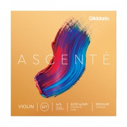 D'Addario Ascenté Violin String Set, 4/4 Scale, Medium Tension