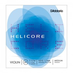 D'Addario H310 1/16M Helicore Violin String Set, 1/16 Scale, Medium
