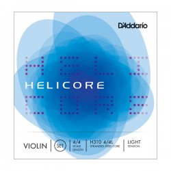 D'Addario H310 4/4L Helicore Violin String Set, 4/4 Scale, Light