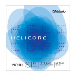 D'Addario H310 4/4M Helicore Violin String Set, 4/4 Scale, Medium