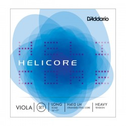D'Addario H410 LH Helicore Viola String Set, Long Scale, Heavy