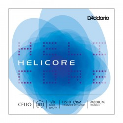 D'Addario Helicore Cello String Set, 1/8 Scale, Medium Tension