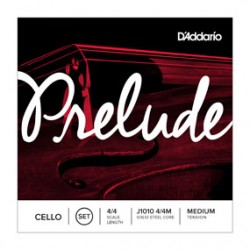 D'Addario Prelude Cello Single D String, 4/4 Scale, Medium Tension