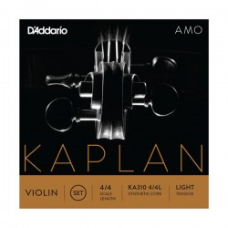 D'Addario Kaplan Amo Violin String Set, 4/4 Scale, Light Tension