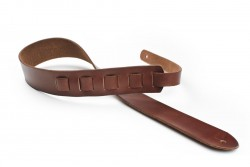 San Leandro Strap LB-114 Leather Guitar Strap, Brown