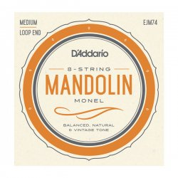 D'Addario EJM74 Mandolin Strings, Monel, Medium, 11-40