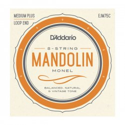 D'Addario EJM75C Mandolin Strings, Monel, Medium Plus, 11-41