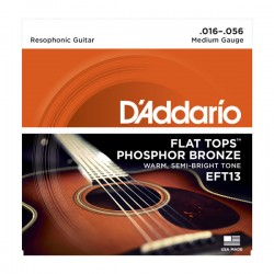 D'Addario EFT13 Flat Tops, Medium, 16-56