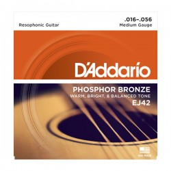 D'Addario EJ42 Resophonic Guitar Strings, 16-56