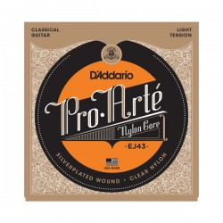 D'Addario EJ43 Pro-Arté Nylon, Light Tension Classical Strings