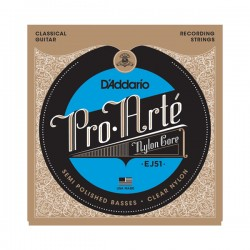 D'Addario EJ51 Pro-Arté with Polished Basses, Hard Tension