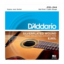 D'Addario EJ83L Gypsy Jazz, Ball End, Light, 10-44
