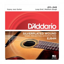 D'Addario EJ84M Gypsy Jazz, Loop End, Medium, 11-45