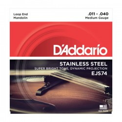D'Addario EJS74 Mandolin Strings, Stainless Steel, 11-40
