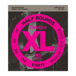 D'Addario ENR71 Half Rounds Bass, Regular Light, 45-100, Long Scale