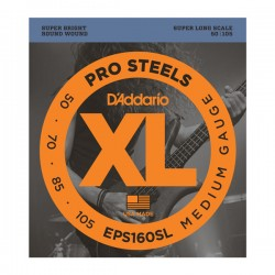 D'Addario EPS160SL ProSteels Bass, Medium, 50-105, Super Long Scale